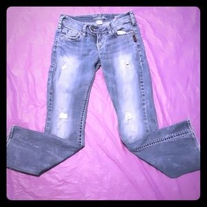 "Silver Tuesday 20"" W26/L31 Distressed Jeans"
